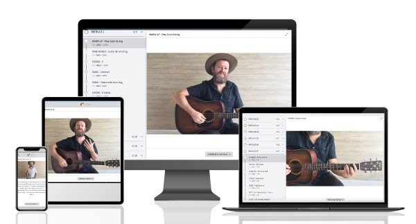 online guitar course preview